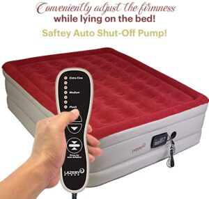 Lazery Sleep Air Mattress - Raised Electric Airbed with Built in Pump