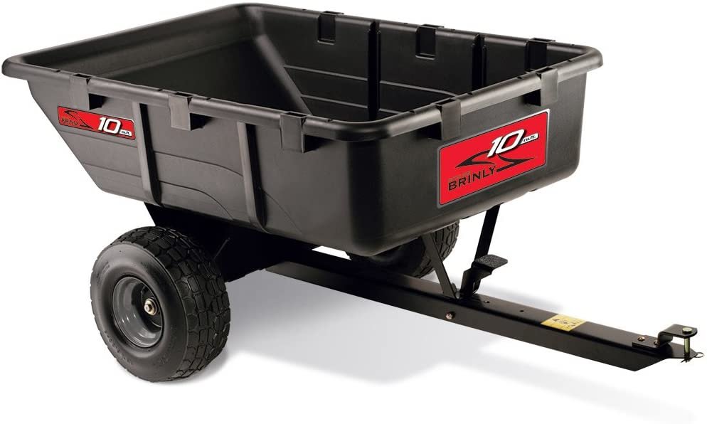 Brinly PCT-10BH 10 Cubic Feet Tow Behind Poly Utility Cart